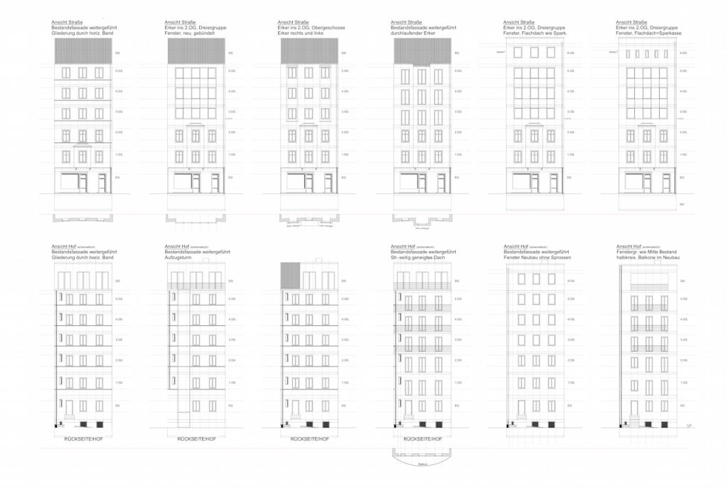 Fassadenvarianten