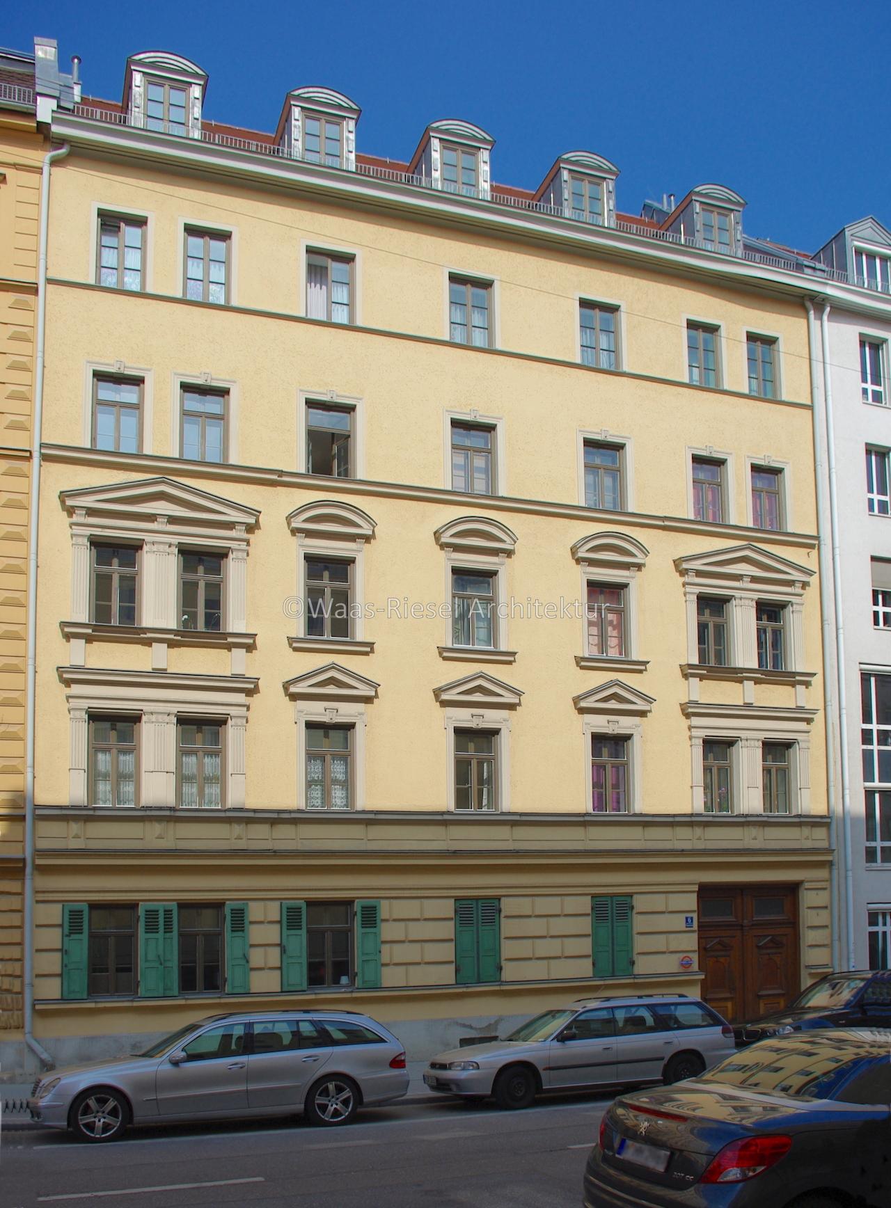 Fassade denkmalgeschütztes Wohngebäude