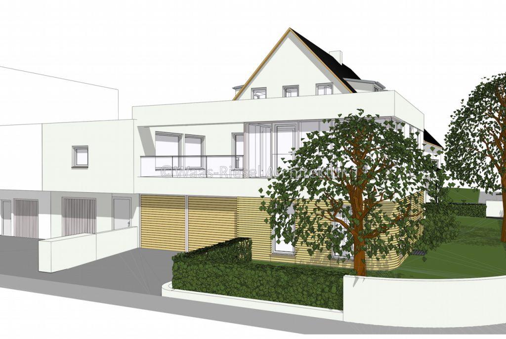 Erweiterung eines bestehendes Mehrfamilienhaus