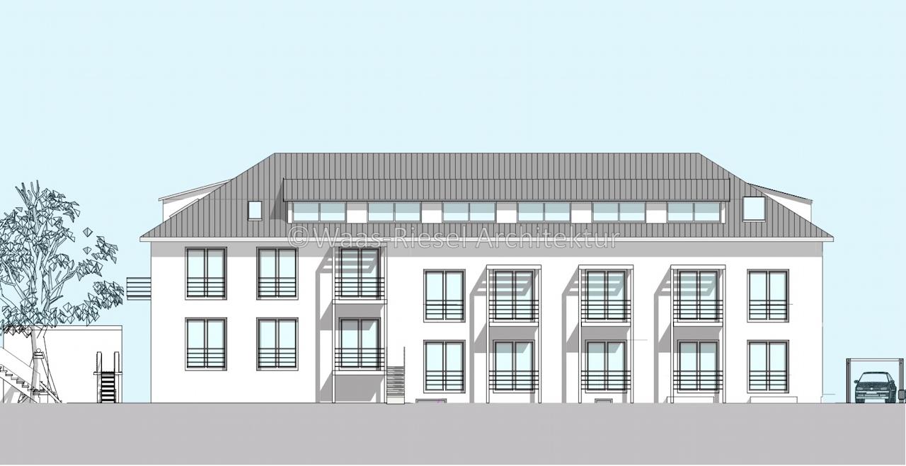 Umnutzung Wohn- und Geschäftsgebäude Ansicht Garten