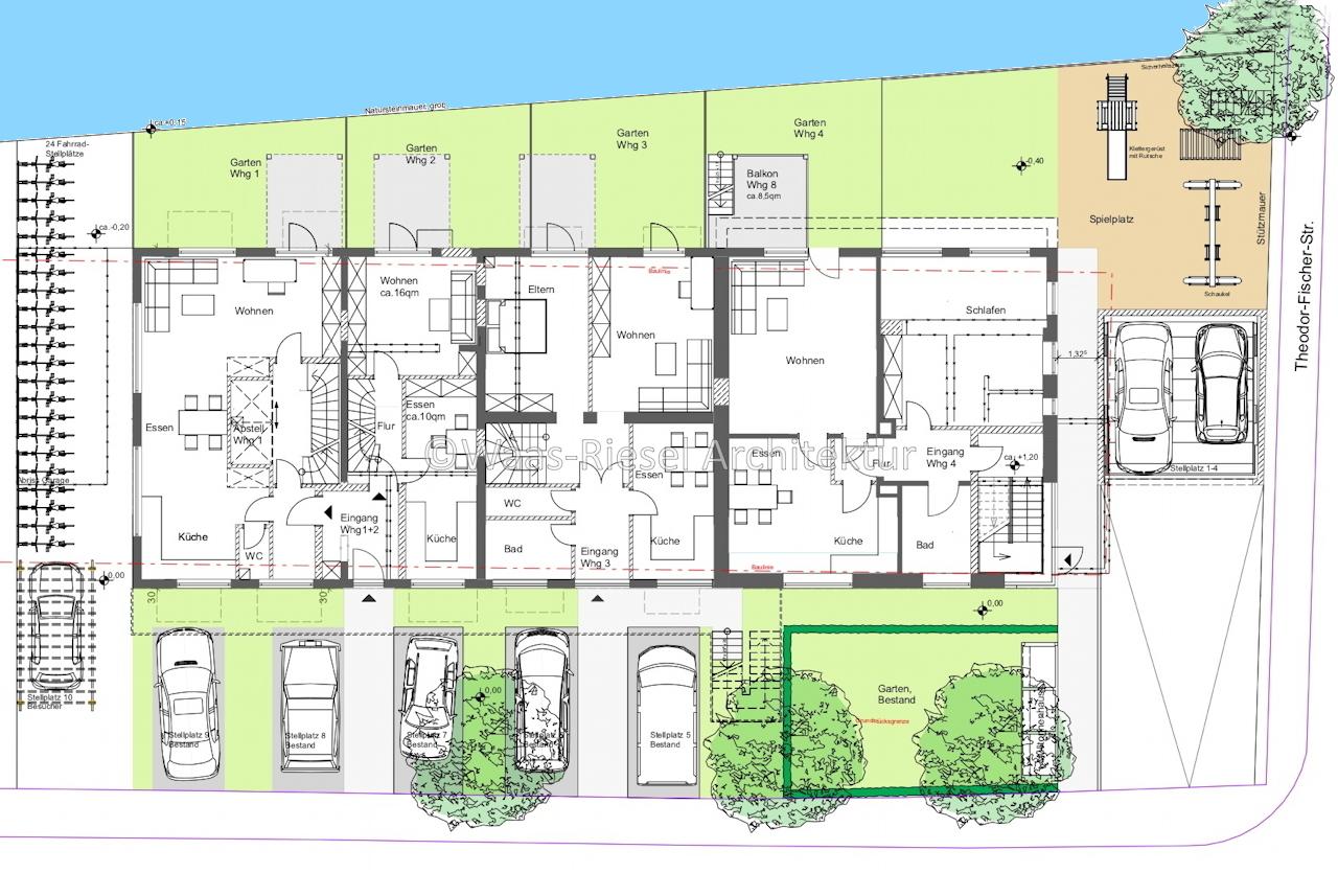Umnutzung Wohn- und Geschäftsgebäude Grundriss