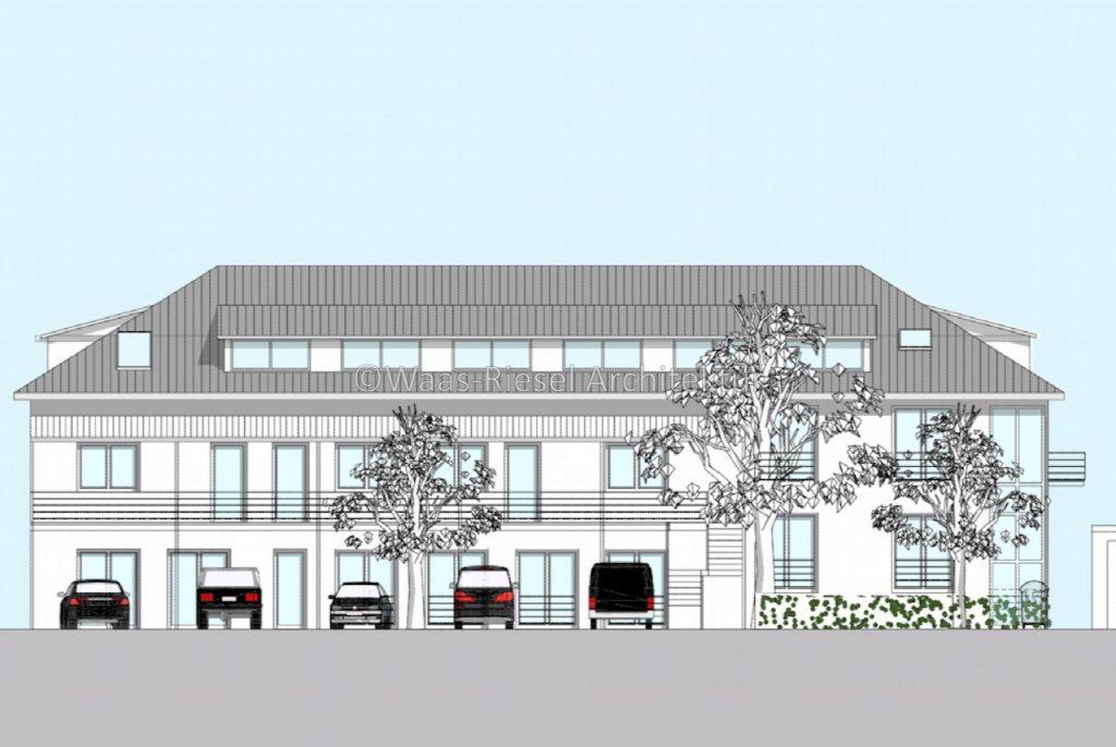Umnutzung Wohn- und Geschäftsgebäude Ansicht Strasse