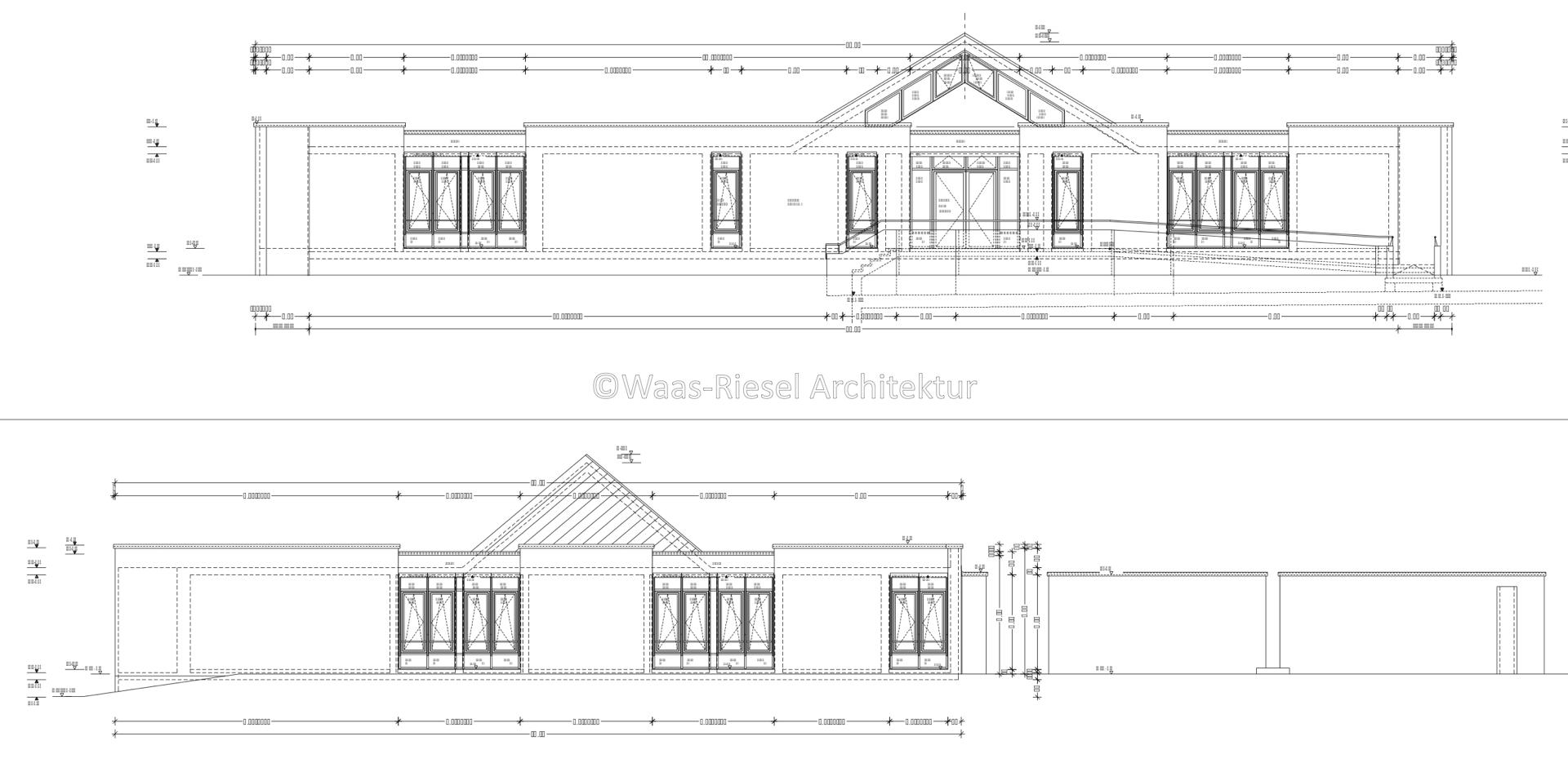 Planung Verwaltungsgebäudes: Ansichten