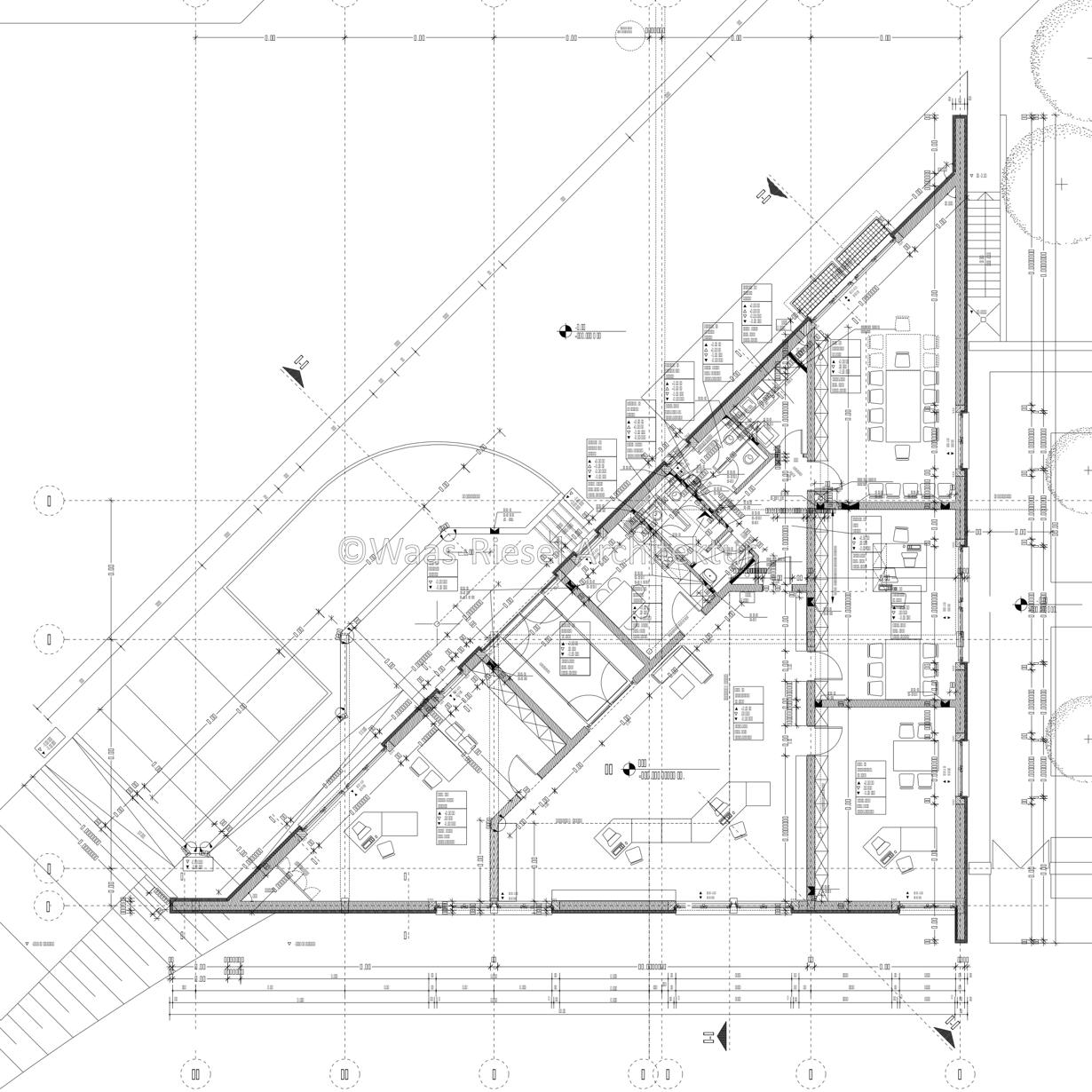 Planung Verwaltungsgebäudes: Grundriss