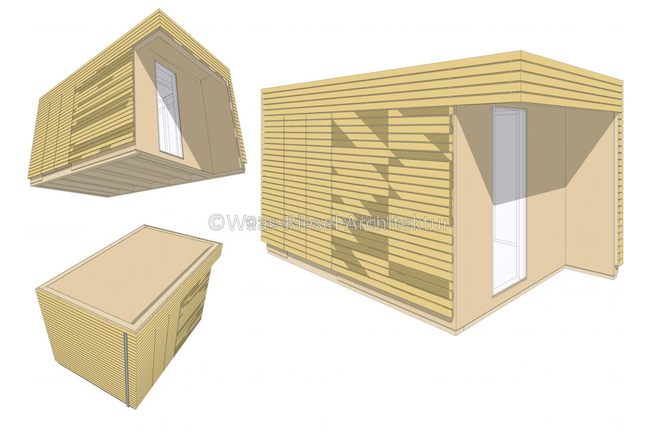 Gartenhaus in 3D komlett