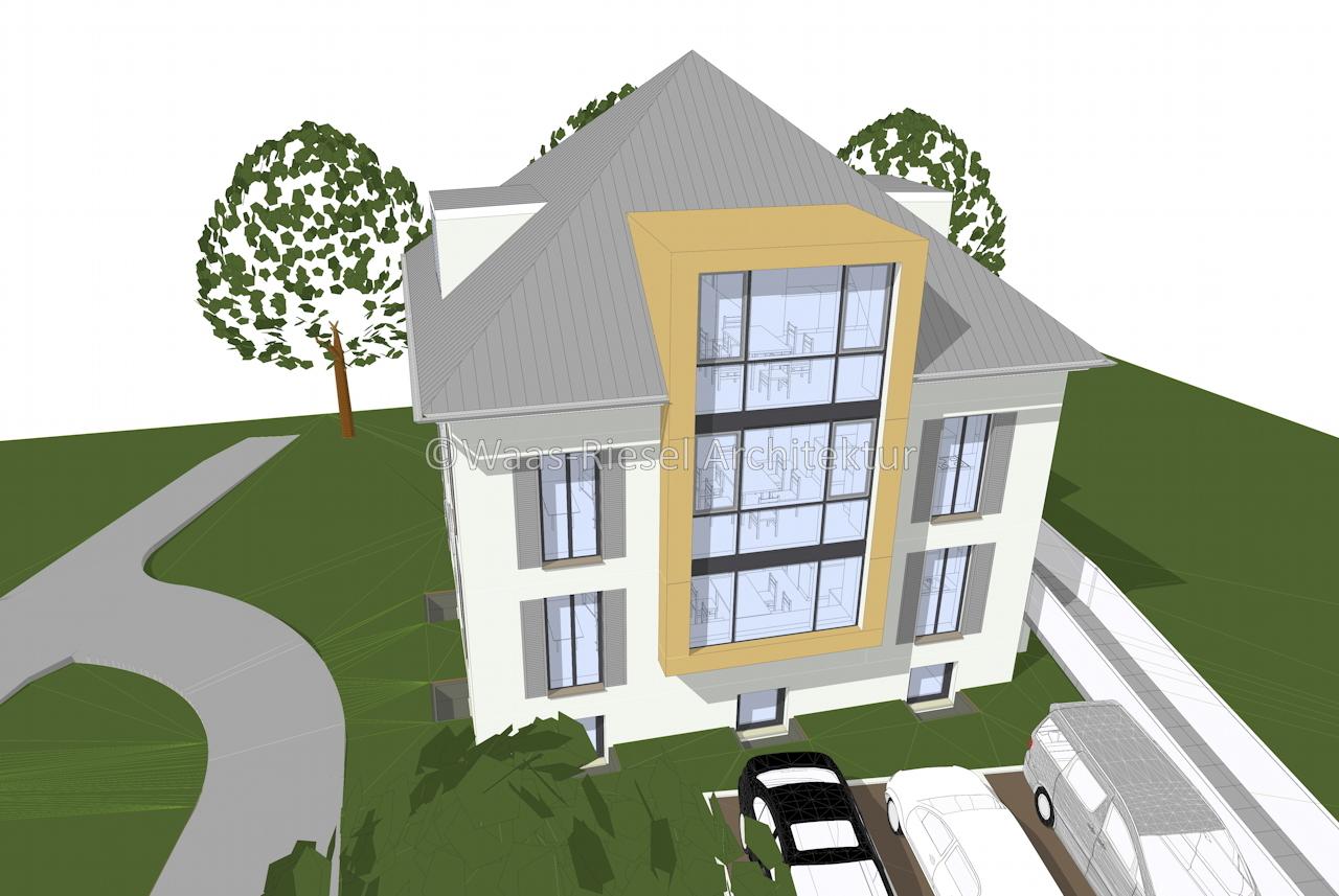 Entwurf Mehrfamilienhaus am Park